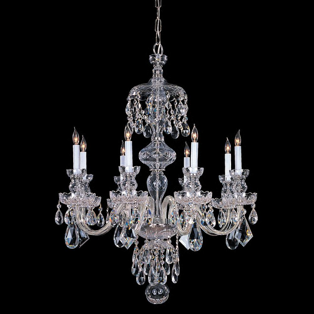 Eight Light Chrome Up Chandelier by Crystorama