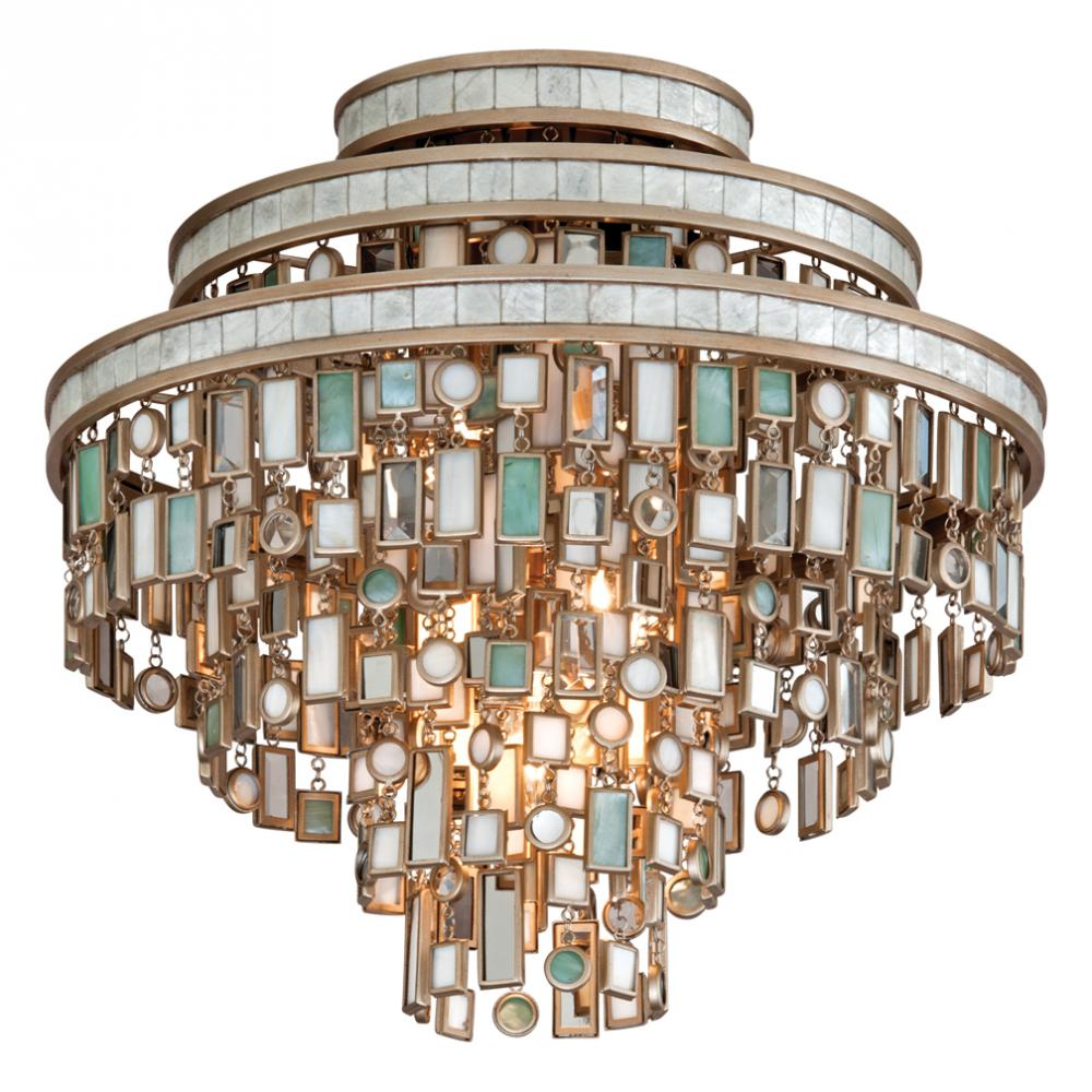 Dolcetti Three-Light Ceiling Semi-Flush by Corbett