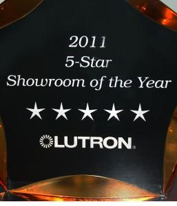Lutron Award 5-Star Showroom of the Year