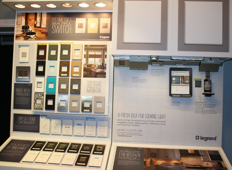 Legrand Display at Connecticut Lighting Centers. Click to enlarge image. & New Legrand Adorne Display   CT Lighting