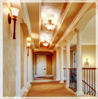 bright hallway lighting