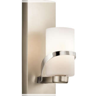 Kichler 1-light polished nickel wall sconce