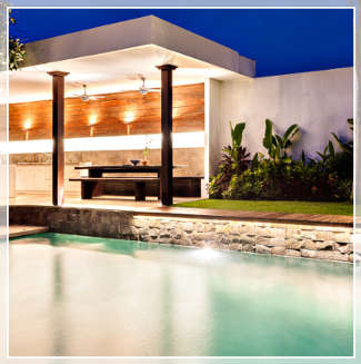 pool and outdoor patio lighting